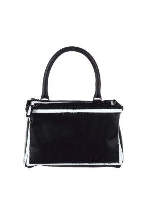 Givenchy: shoulder bags - Pandora logo detail leather bag