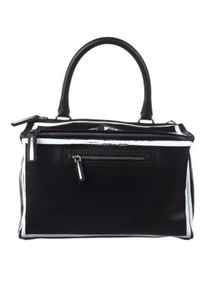 Givenchy: shoulder bags - Pandora logo detailed leather bag