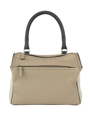 GIVENCHY: borse a spalla - Pandora S in pelle hammered beige