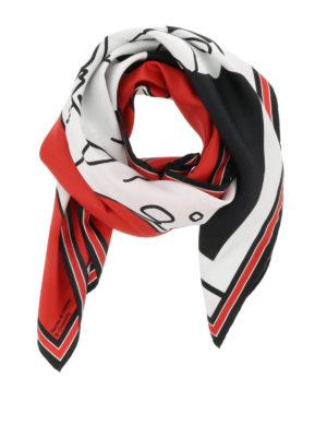 Givenchy: Stoles & Shawls - Bambi print silk shawl