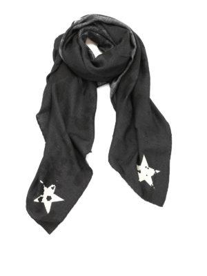 Givenchy: Stoles & Shawls - Contrasting logo print shawl