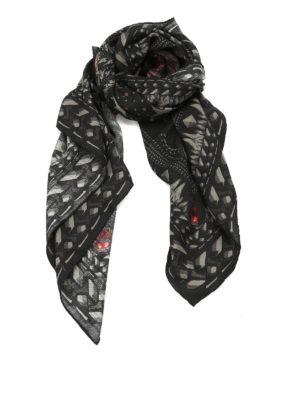 Givenchy: Stoles & Shawls - Monkey Brothers printed shawl
