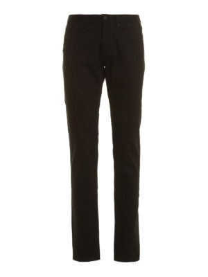 Givenchy: straight leg jeans - Back star patches jeans