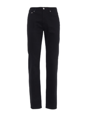 Givenchy: straight leg jeans - Black cotton denim slim fit jeans