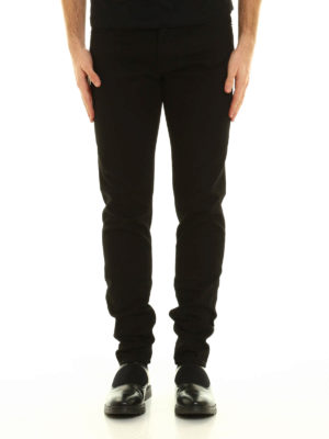 Givenchy: straight leg jeans online - Back star patches jeans