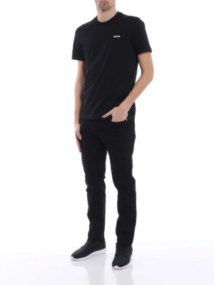 Givenchy: straight leg jeans online - Black cotton denim slim fit jeans