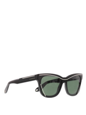 Givenchy: sunglasses - Metal lines embellished sunglasses