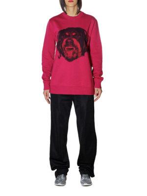 Givenchy: Sweatshirts & Sweaters online - Rottweiler print fuchsia sweatshirt