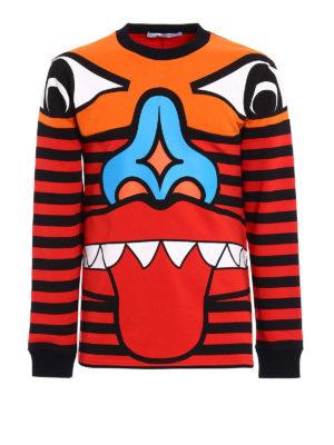 Givenchy: Sweatshirts & Sweaters - Totem print cotton sweatshirt