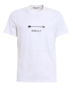 Givenchy: t-shirts - Arrow print cotton T-shirt