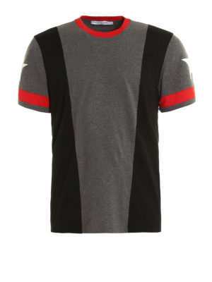 Givenchy: t-shirts - Colour block design T-shirt