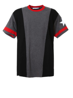 Givenchy: t-shirts - Colour block over Tee