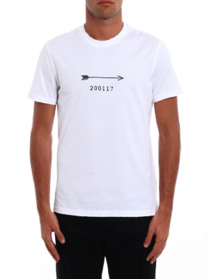 Givenchy: t-shirts online - Arrow print cotton T-shirt