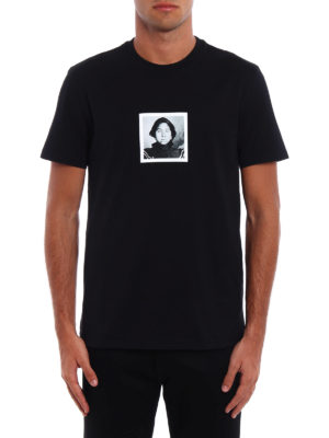 Givenchy: t-shirts online - Red Woman print cotton T-shirt