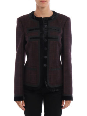Givenchy: Tailored & Dinner online - Velvet trimmed wool jacket