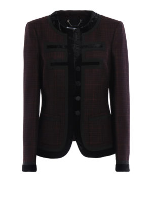 Givenchy: Tailored & Dinner - Velvet trimmed wool jacket