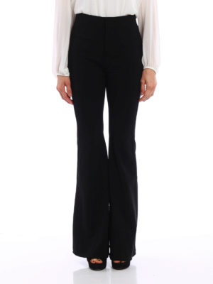 Givenchy: Tailored & Formal trousers online - Super stretch flared trousers