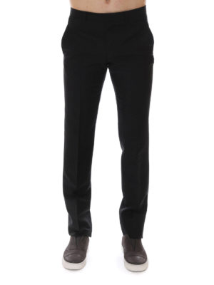 Givenchy: Tailored & Formal trousers online - Wool and mohair blend trousers