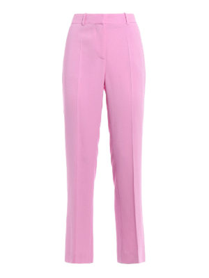 Givenchy: Tailored & Formal trousers - Pink stretch cady trousers