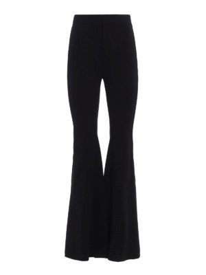 Givenchy: Tailored & Formal trousers - Super stretch flared trousers