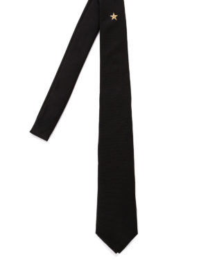 Givenchy: ties & bow ties - Lurex star detail silk tie