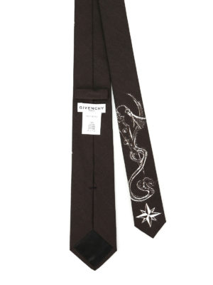Givenchy: ties & bow ties online - Sketch printed cotton tie