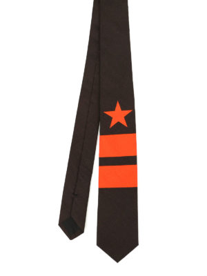 Givenchy: ties & bow ties - Star and stripe print cotton tie