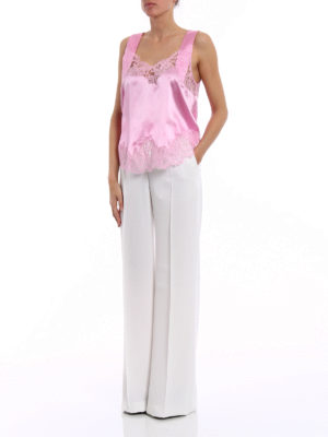 Givenchy: Tops & Tank tops online - Lace trim pink silk top