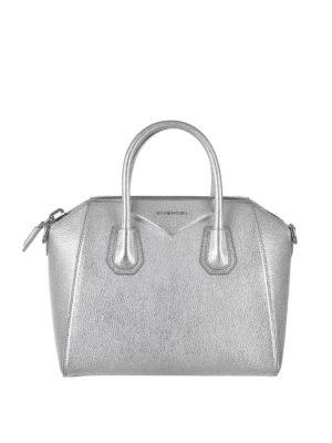 Givenchy: totes bags - Antigona metallic leather bag