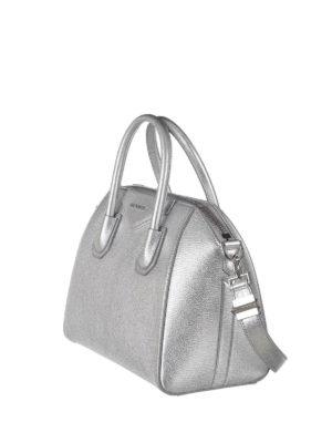 Givenchy: totes bags online - Antigona metallic leather bag