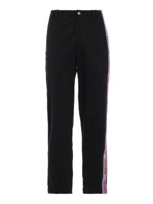 GIVENCHY: pantaloni sport - Pantaloni da sport con bande Givenchy 4G