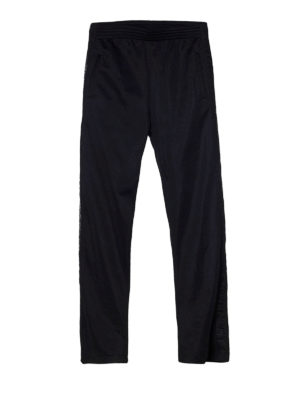 Givenchy: tracksuit bottoms - Webbing black jogging pants