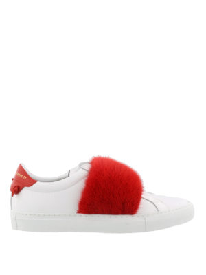 Givenchy: trainers - Knots fur white sneakers