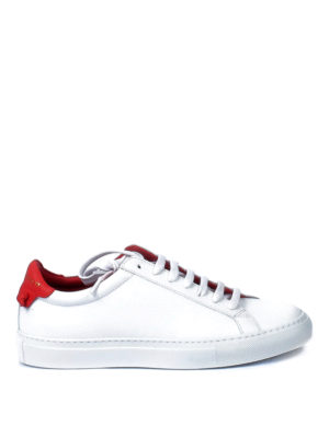 Givenchy: trainers - Knots red insert leather sneakers