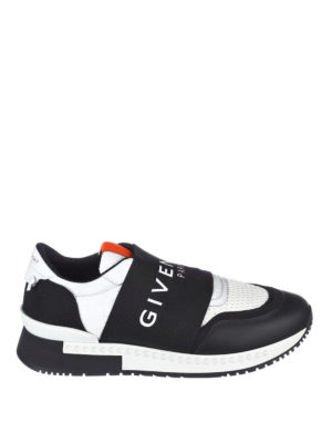 Givenchy: trainers - Leather and fabric slip on sneakers