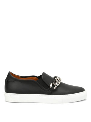 Givenchy: trainers - Maxi chain detail leather slip-ons