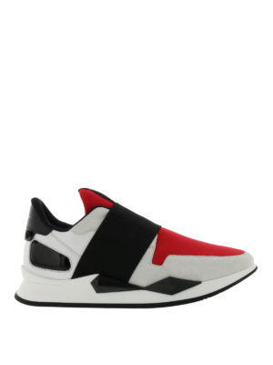 Givenchy: trainers - Multifabric futuristic slip-ons