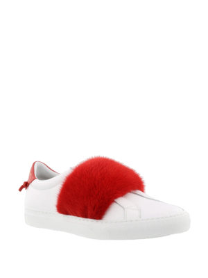 Givenchy: trainers online - Knots fur white sneakers