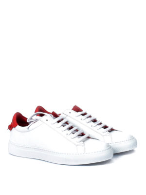 Givenchy: trainers online - Knots red insert leather sneakers