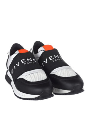 Givenchy: trainers online - Leather and fabric slip on sneakers