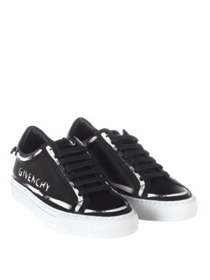 Givenchy: trainers online - Logo paint effect leather sneakers