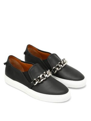 Givenchy: trainers online - Maxi chain detail leather slip-ons