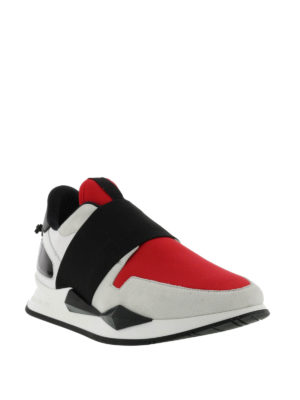 Givenchy: trainers online - Multifabric futuristic slip-ons
