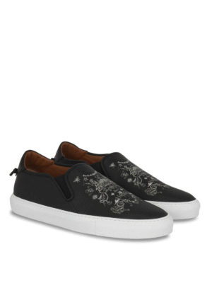 Givenchy: trainers online - Printed leather slip-ons