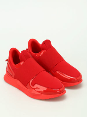 Givenchy: trainers online - Red multifabric futuristic slip-ons
