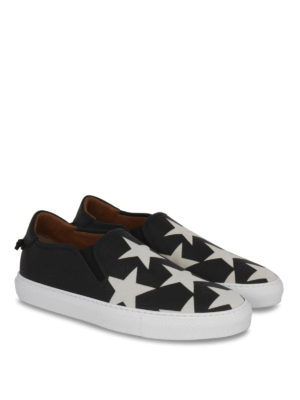 Givenchy: trainers online - Star print leather slip-ons