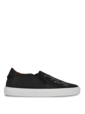 Givenchy: trainers - Printed leather slip-ons