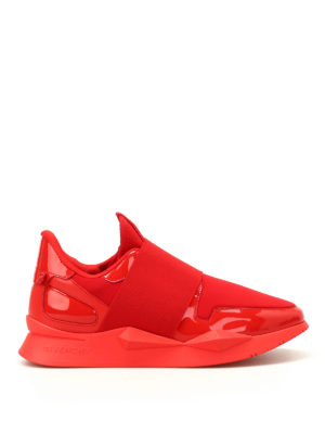 Givenchy: trainers - Red multifabric futuristic slip-ons