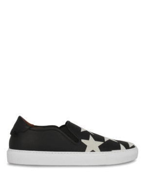 Givenchy: trainers - Star print leather slip-ons