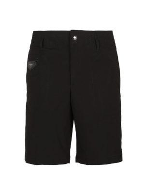 Givenchy: Trousers Shorts - Logo patch detail nylon bermuda